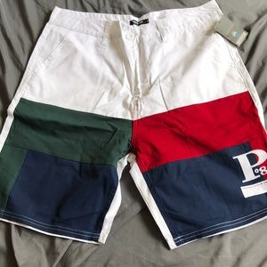 Pink Dolphin heritage panel shorts